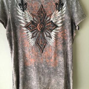 Vocal Tops - Celtic Cross BOHO Vocal Shirt